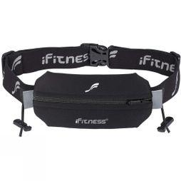 Fitletic Single Neoprene Race Belt With Race Number Holder Black