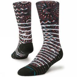 Stance Fusion Athletic Kaleido Socks Red