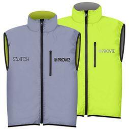 Proviz Mens Switch Gilet Yellow/Silver
