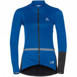Odlo Womens Mistral Logic Cycling Jacket Lapis Blue - Black