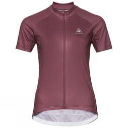 Odlo Womens Fujin Print Stand-Up Collar Jersey Roan Rouge