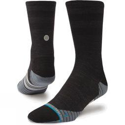 Stance Mens Bike Solids Wool Crew Socks Black