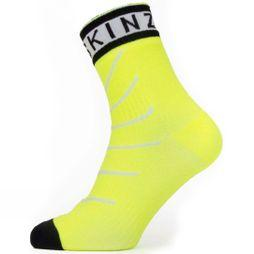 SealSkinz Mens Waterproof Warm Weather Ankle Length Sock with Hydrostop Yellow/ Black