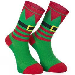 Primal Elf Christmas Socks Green/ Red/ White