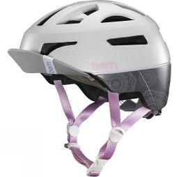 Bern Parker Helmet with Flip Visor Light Grey Mandala