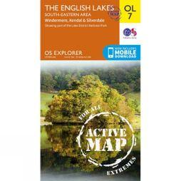 Ordnance Survey Active Explorer Map OL7 The Lake District - South-Eastern Area V16