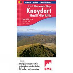 Harvey Maps Knoydart Kintail & Glen Affric British Mountain Map 1:40K No Colour