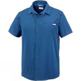 Columbia Mens Triple Canyon Solid Short Sleeve Shirt
