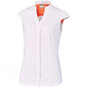Columbia Womens Saturday Trail Stretch Print Short Sleeve Shirt