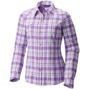 Columbia Womens Silver Ridge Plaid Long Sleeve Shirt