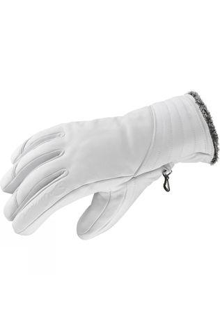 Salomon Womens Native Glove White / Dark Grey Lining