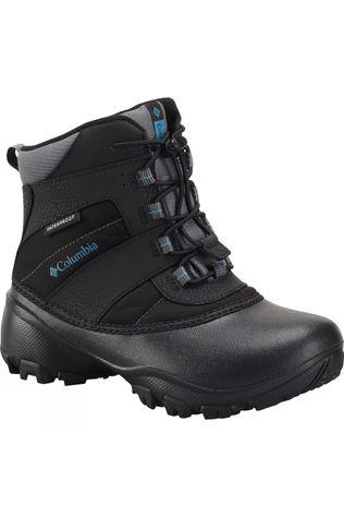 Columbia Boys Youth Rope Tow III Waterproof Boot Black / Dark Compass