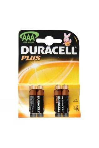 Duracell Plus AAA 1.5V Battery (Pack of 4) .