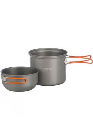Vango Hard Anodised Cook Set - 1 Person Grey