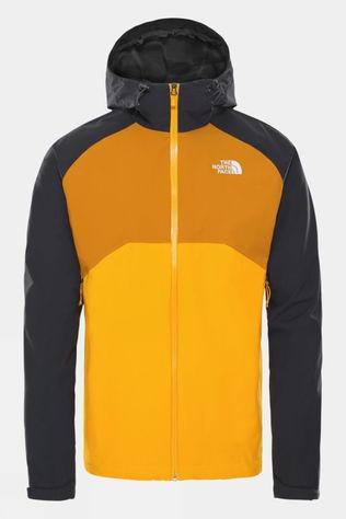 The North Face Mens Stratos Jacket Summit Gold/Asphalt Grey/Citrine Yellow