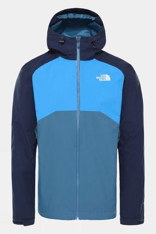 The North Face Mens Stratos Jacket Mallard Blue/Urban Navy/Clear Lake Blue