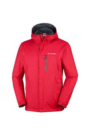 Columbia Mens Pouring Adventure Jacket Mountain Red
