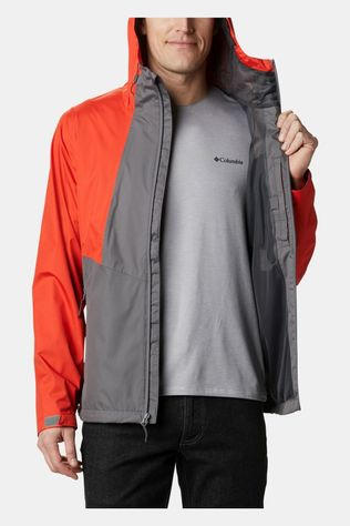 Columbia Mens Inner Limits II Jacket City Grey, Wildfire, Bright Gold Logo