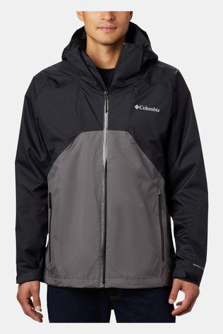 Columbia Mens Rain Scape Jacket Black, City Grey