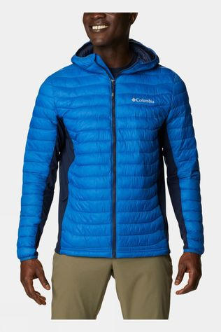 Columbia Mens Powder Lite Light Hooded Jacket Bright Indigo, Collegiate Navy