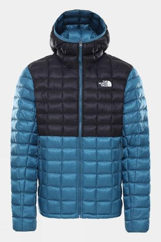The North Face Mens Thermoball Super Hoodie Mallard Blue/TNF Black