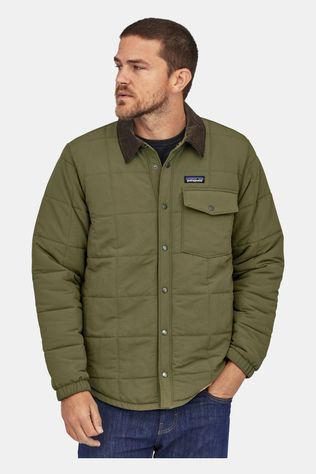 Patagonia Mens Isthmus Quilted Shirt Jacket Industrial Green