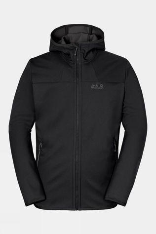 Jack Wolfskin Mens Grand Valley Softshell Jacket Black/Dark Grey