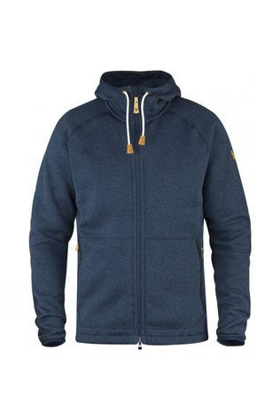 Fjallraven Mens Övik Fleece Hoodie Navy