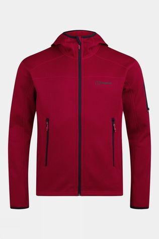 Berghaus Mens Pravitale 2.0 Hooded Jacket Red Dahlia/Haute Red/Night Sky