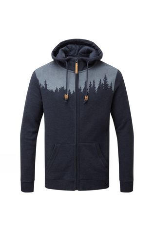 Tentree Juniper Zip Hoodie Dark Ocean Blue Heather