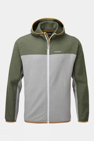 Craghoppers Mens Galway Hooded Jacket Parka Green Marl / Cloud Grey