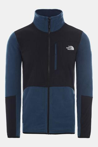 The North Face Mens Glacier Pro Full Zip Fleece Blue Wing Teal/TNF Black