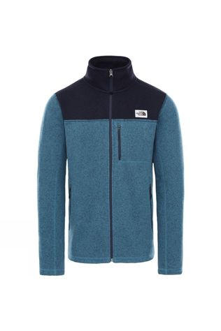 The North Face Mens Gordon Lyons Full Zip Fleece Mallard Blue Dark Heather/Aviator Navy Dark Heather