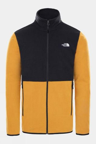 The North Face Mens Tka Glacier Fleece Full Zip Jacket Citrine Yellow/TNF Black