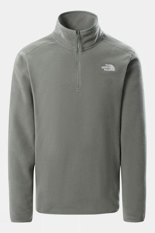 The North Face Mens 100 Glacier 1/4 Zip Fleece Agave Green