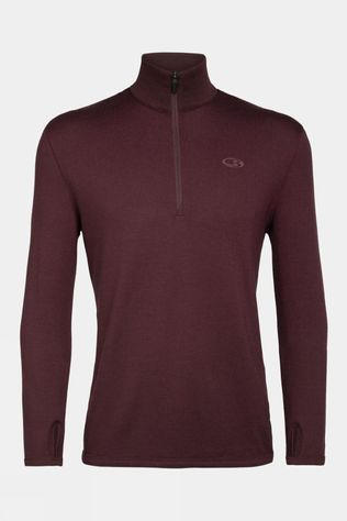 Icebreaker Mens Original Long Sleeve Half Zip Redwood