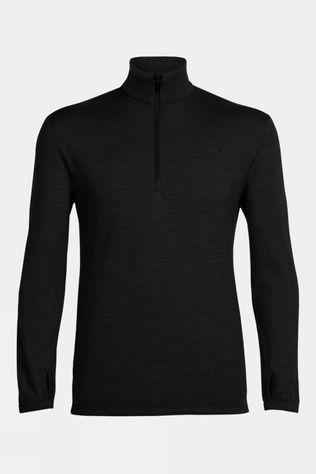 Icebreaker Mens Original Long Sleeve Half Zip Black