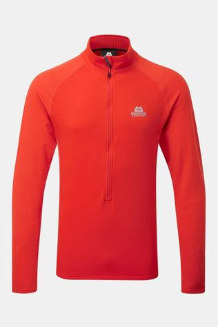 Mountain Equipment Mens Eclipse Zip Tee Cardinal Orange