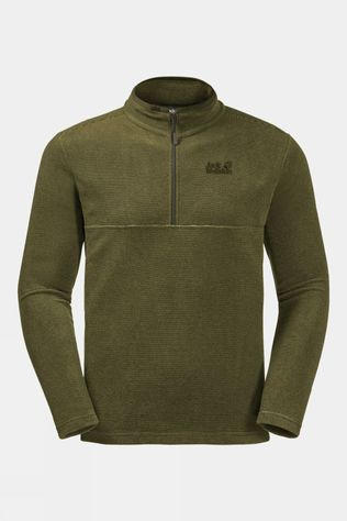 Jack Wolfskin Mens Arco Fleece Ligth Moss Stripes