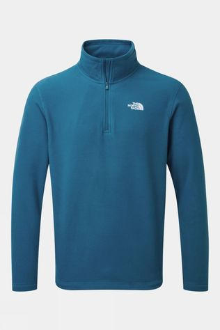 The North Face Mens Cornice II 1/4 Zip Fleece Moroccan Blue