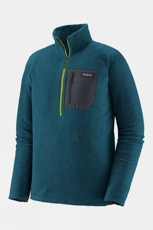 Patagonia Men's R1 Air Zip-Neck Crater Blue