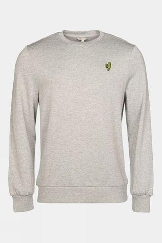 Ayacucho Mens Sechura Eco Crew Sweater Grey Melange