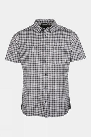 Ayacucho Mens Goa Short Sleeve Shirt Navy Check