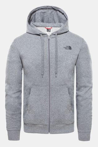 The North Face Mens Open Gate Full Zip Hoodie Light Tnf Medium Grey Heather