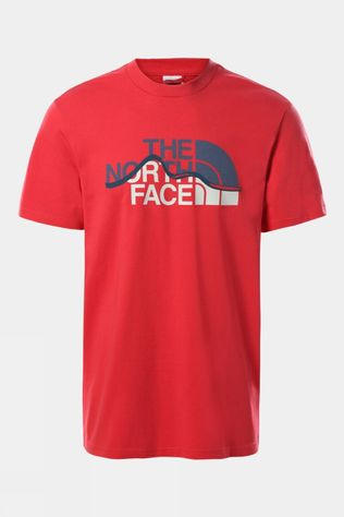 The North Face Mens Mountain Line Tee Rococco Red