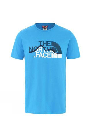 The North Face Mens Mountain Line Tee Clear Lake Blue