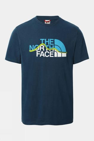 The North Face Mens Mountain Line Tee Monterey Blue