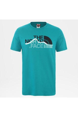 The North Face Mens Mountain Line Tee Fanfare Green