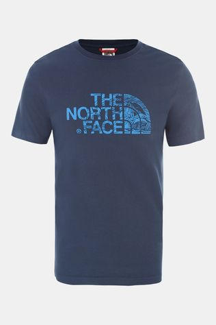 The North Face Mens Woodcut Dome T-Shirt Blue Wing Teal