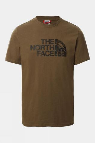 The North Face Mens Woodcut Dome T-Shirt Military Olive